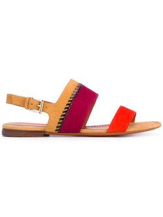 сандалии с ремешком на пятке Santoni