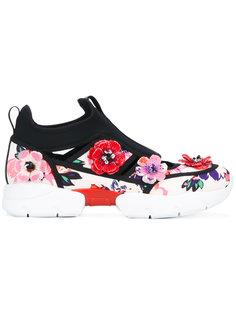 кроссовки с цветочной аппликацией MSGM