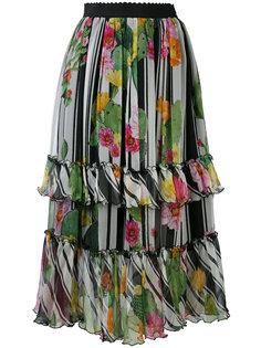 юбка с цветочным принтом Blugirl