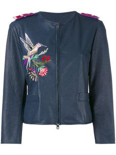 куртка с вышивкой колибри Emporio Armani
