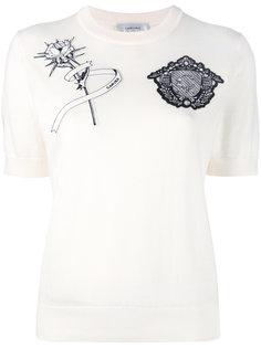 футболка с заплатками Carven