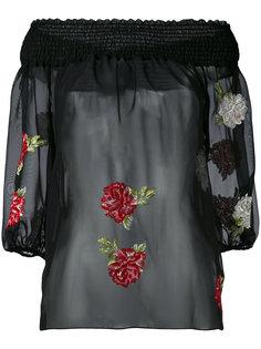блузка с цветочной вышивкой Blugirl