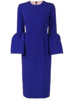 платье с рукавами-колокол Margot Roksanda