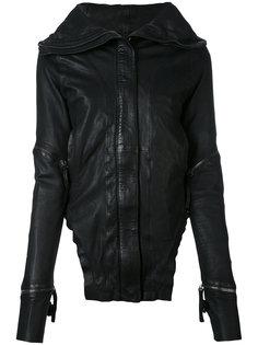 кожаная куртка с широким воротником Barbara I Gongini