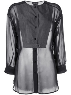 прозрачная блузка Emporio Armani