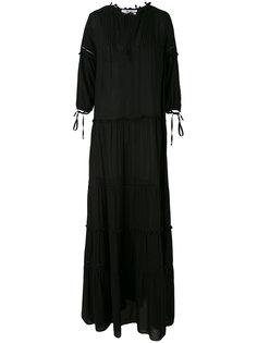 расклешенное длинное платье Blugirl