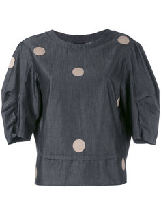 блузка в горошек Emporio Armani