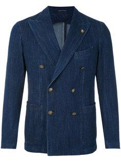 двубортный джинсовый пиджак  Tagliatore