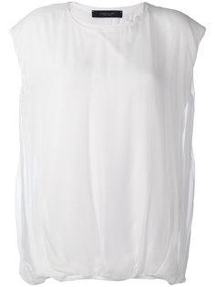 футболка с присборенным подолом Federica Tosi
