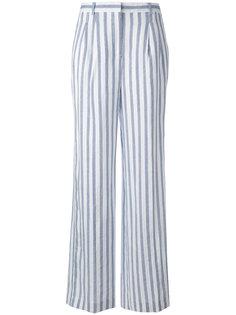 полосатые брюки с завышенной талией Michael Kors