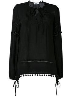 блузка с помпонами Blugirl