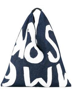 джинсовая сумка-тоут с рисунком Mm6 Maison Margiela
