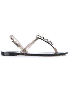 сандалии с отделкой металлик Casadei