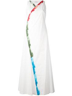 длинное платье с контрастной окантовкой Tomas Maier