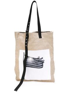 крупная плетеная сумка-тоут Raf Simons