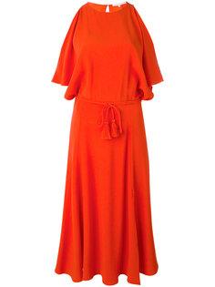 платье миди с вырезами на плечах Vanessa Bruno