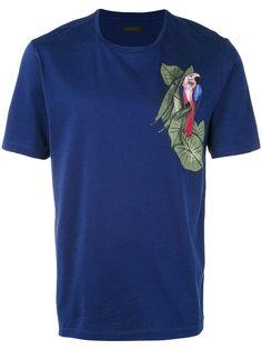 футболка с принтом в виде попугая Z Zegna