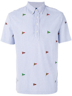 футболка-поло с вышивкой флагов Polo Ralph Lauren