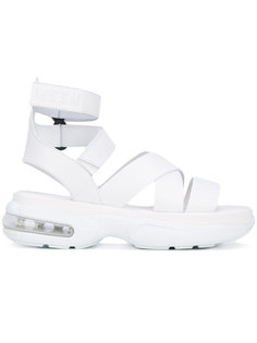 сандалии с ремешками на платформе MSGM