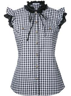 gingham frilled sleeveless shirt Guild Prime