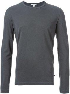 классическая футболка с длинными рукавами James Perse