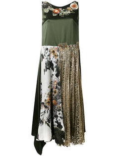 платье шифт с вышивкой Antonio Marras