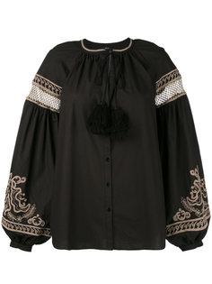 рубашка с вышивкой и кисточками Wandering