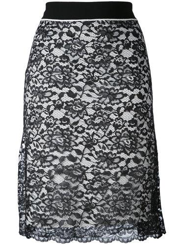 кружевная многослойная юбка Paco Rabanne