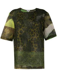 футболка с животным принтом Pierre-Louis Mascia