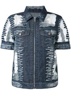 джинсовая куртка с короткими рукавами Diesel
