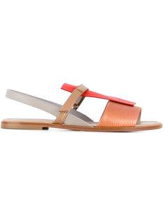 сандалии с контрастной панелью Pollini