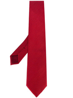 галстук с мелким геометрическим узором Brioni