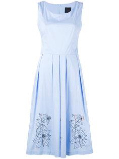 плиссированное платье с цветочным принтом Eggs