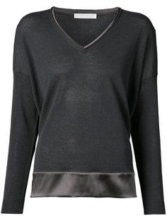 блуза с контрастной вставкой Fabiana Filippi