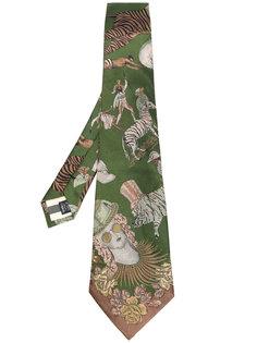 галстук с жаккардовым животным узором  Jean Paul Gaultier Vintage