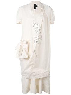 асимметричное платье с накладным карманом Bernhard Willhelm