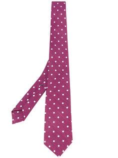 галстук с узором в горох Borrelli