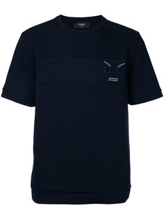 футболка с аппликацией  Fendi