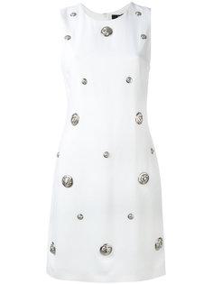 декорированное платье с логотипами Versus