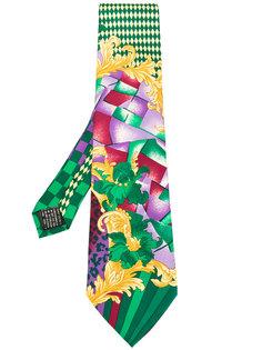 галстук с геометрическим принтом  Versace Vintage