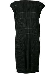 платье шифт с вырезом-лодочкой Pleats Please By Issey Miyake