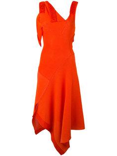 асимметричное платье с расклешенной юбкой Victoria Beckham