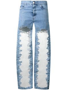 джинсы с потертой отделкой Diesel
