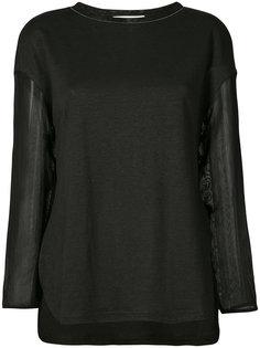блуза с прозрачными рукавами Fabiana Filippi