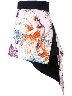 asymmetric printed mini skirt Fausto Puglisi