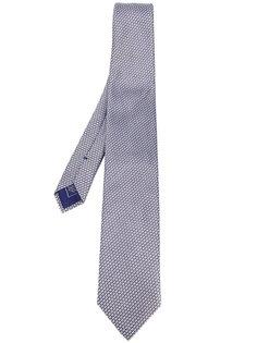 галстук с геометрическим микро-узором Brioni