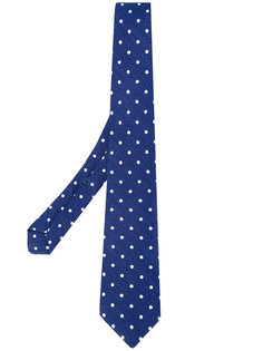 Polka dot pattern tie Borrelli