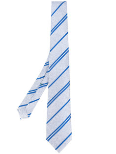 striped print tie Borrelli