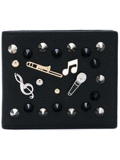 бумажник с вышивкой музыкальных инструментов Dolce & Gabbana