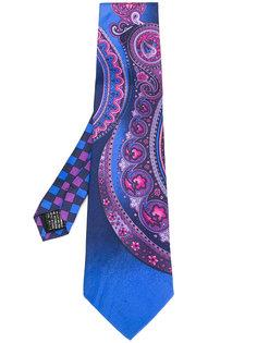 галстук с принтом в стиле барокко  Versace Vintage